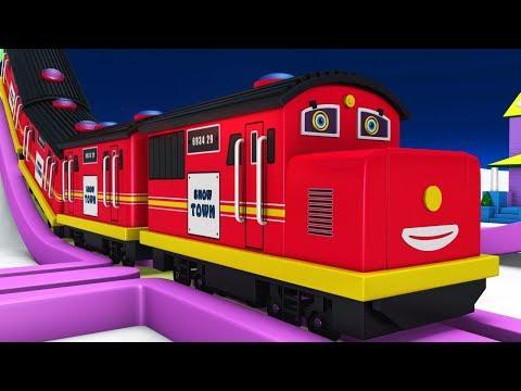 Thomas the Train - Trains for Kids - Choo Choo Train - Toy Factory Train Cartoon - Kids Videos - JCB