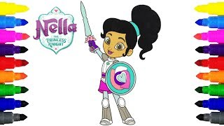 Nella the Princess Knight Coloring Pages for Kids | Coloring Nick Jr. Nella the Princess Knight