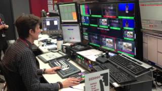 BBC THREE 60 seconds first on air New Broadcasting House 18 March 2013