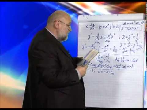 Практикум: Решение линейных дифференциальных уравнений первого порядка