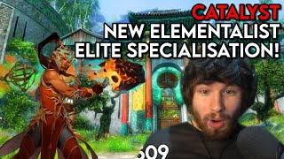 ENHANCEMENT SHAMAN in Guİld Wars 2! - End of Dragons CATALYST Reveal Reaction!