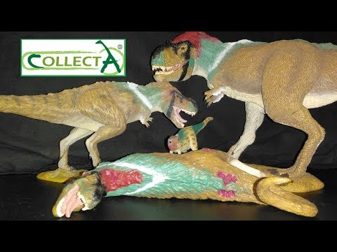 Collecta Feathered Tyrannosaur Family Review!!