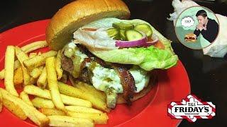 """Ресторан """"T.G.I Fridays"""". Блю-чиз бургер с беконом. Полный залет!!"""