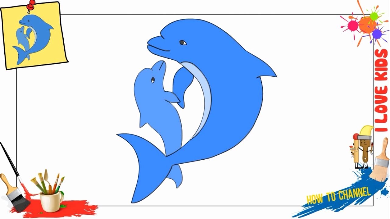 how to draw winter the dolphin
