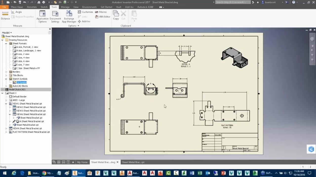 Autodesk Inventor Drawing Productivity Sketch Symbols