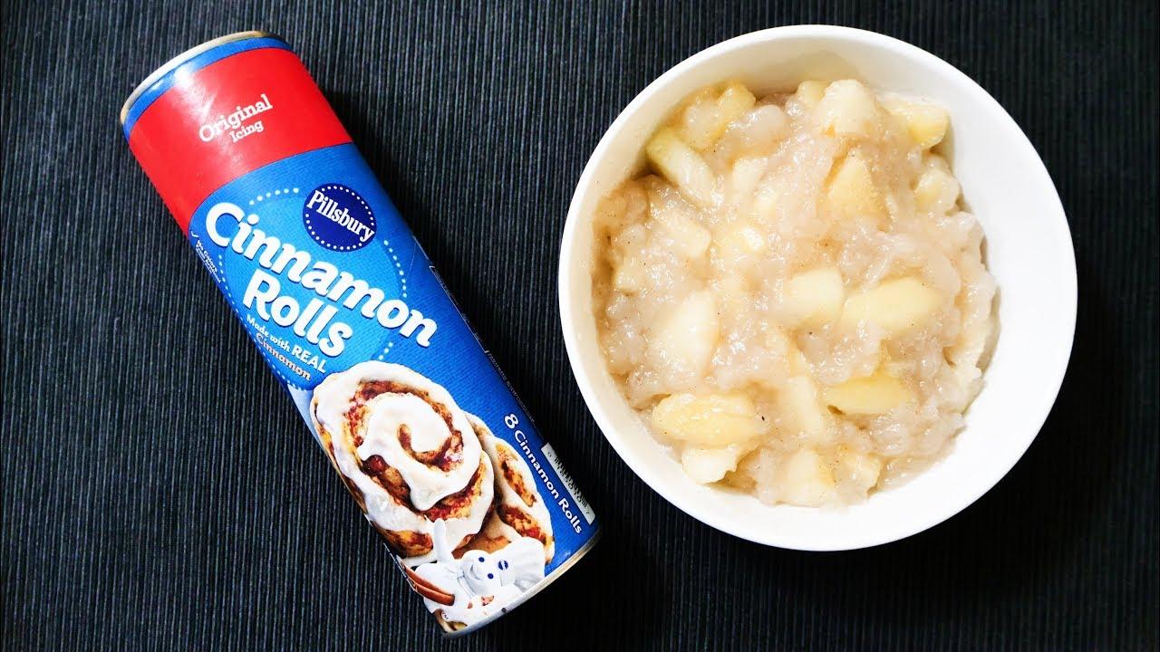 How To Make Apple Pie Cups With Pillsbury Cinnamon Rolls Youtube