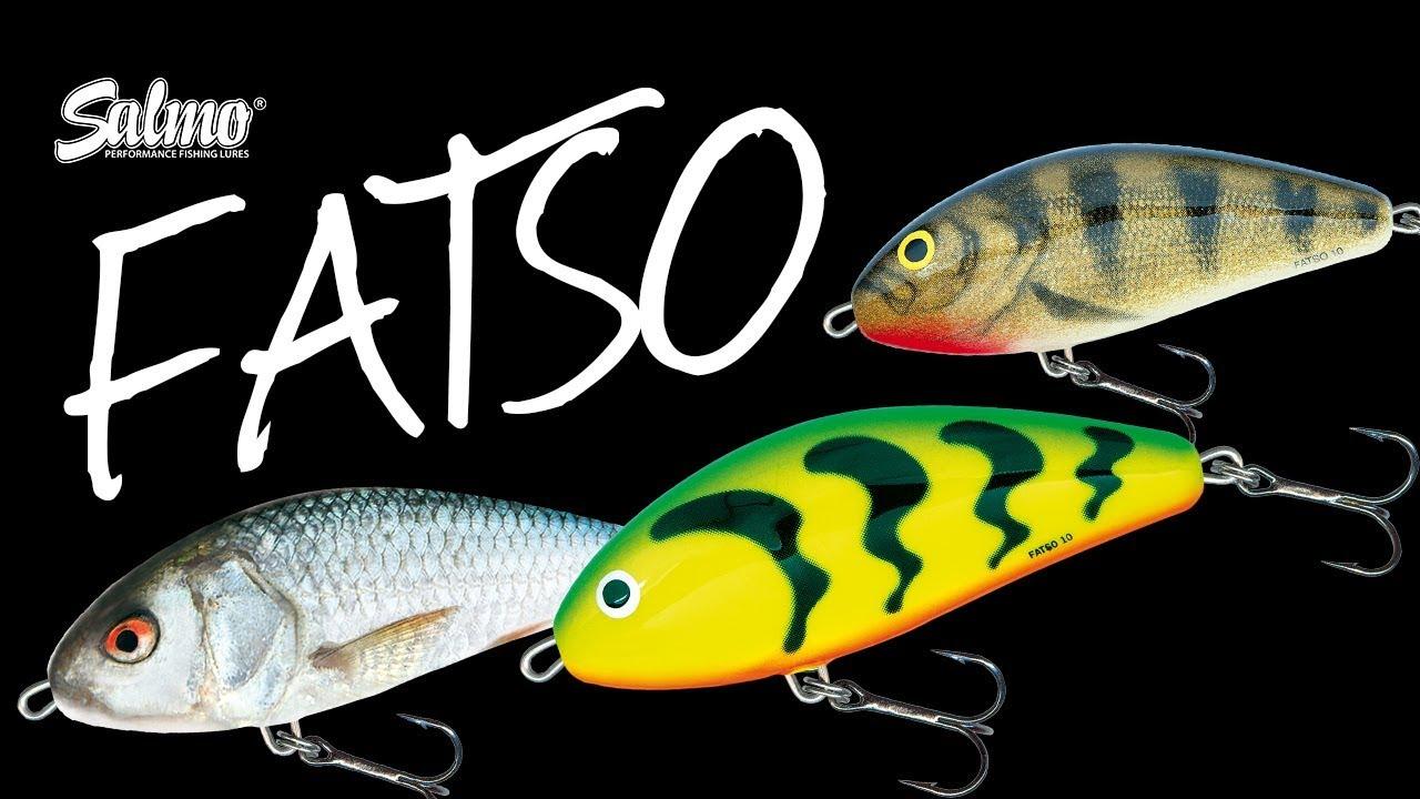 Fox Salmo Fatso Wobbler 10cm Sinking 52g Real Hot Perch Dace Emerald Green Tiger