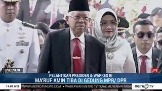 KH Ma'ruf Amin Tiba di Gedung DPR RI