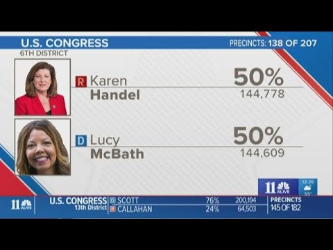 Mood shifts at Karen Handel election night watch party