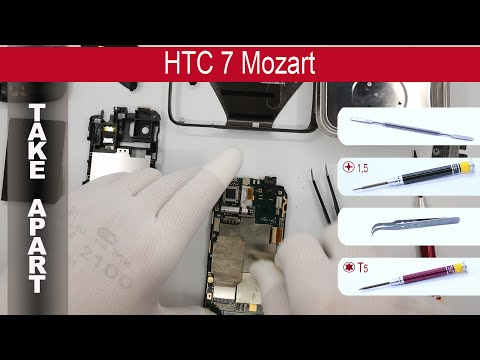 How to disassemble 📱 HTC 7 Mozart T8698, Take Apart, Tutorial