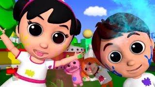 Holi Me Mach Gaya Dhamaal | Indian Nursery Rhymes Hindi | Happy Holi Song Hindi | Kids TV India