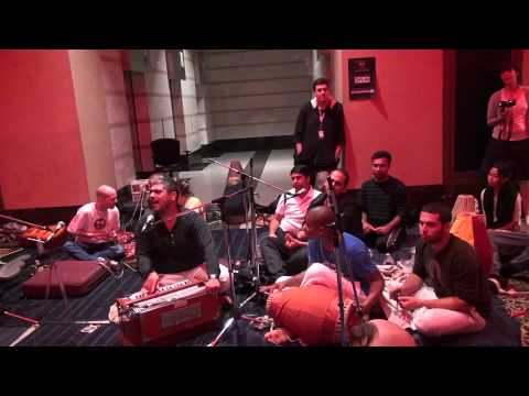 Amazing kirtan during the Nuit Blanche festival in Toronto