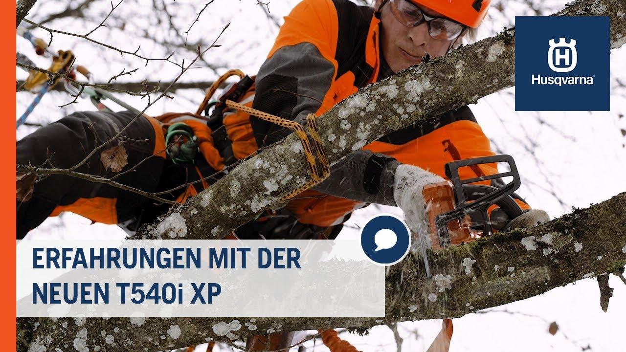 Erfahrungen mit der neuen Husqvarna T540i XP Akku-Säge | Husqvarna Forst