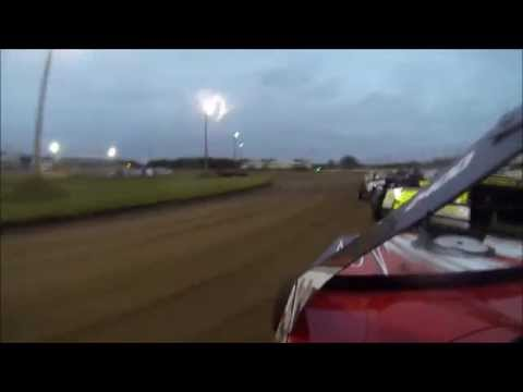 Adam Penn's #5* USMTS modified heat race during the World Modified Dirt Track Championship