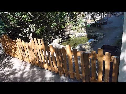 Construction d 39 une cl ture en bois part 2 2 youtube - Comment fabriquer une ponceuse a bande ...