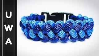 How to make The Zipper Sinnet Paracord Survival Bracelet [With Buckle] [Tutorial]