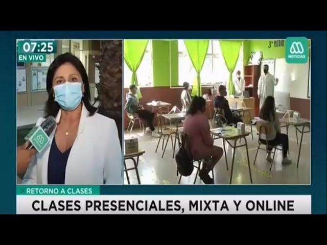 Meganoticias: Retorno a Clases Presenciales en Pumahue Huechuraba