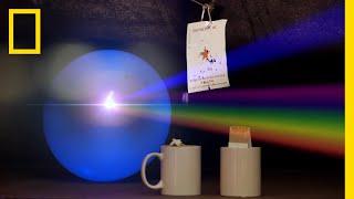 レーザーで割れる風船の色は?|ナショジオクイズ