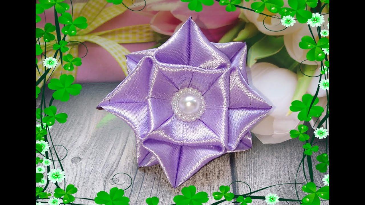 Цветы из лент. Цветы канзаши. Как сделать цветы из лент.