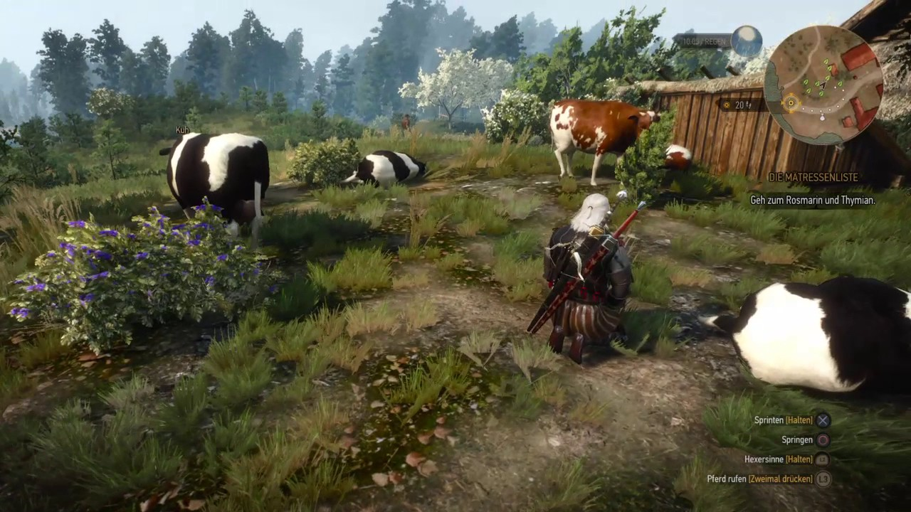 The Witcher 3 Cow Monster Easter Egg