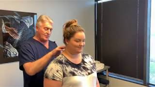 Houston Chiropractor Dr Greg Johnson Diagnoses Double Crush Syndrome & Adjust Her Clearing