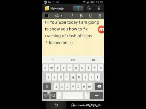 How to fix crashing of clash of clans