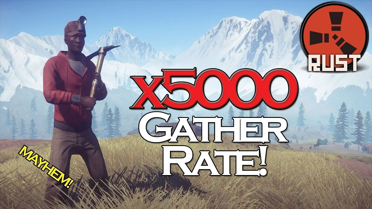 x5000 GATHER! - Rust Random Server #2 | HD 60FPS