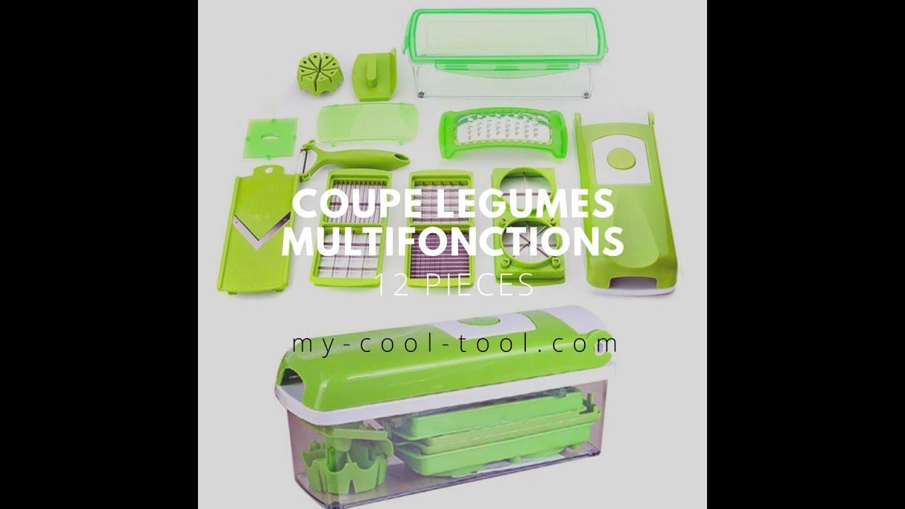 Coupe l gumes multifonctions 12 pi ces youtube - Coupe legumes multifonction ...