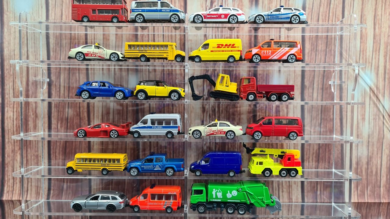 Siku Cars from Car Shelf with Dlan Cars for Siku Cars and Model Cars fans
