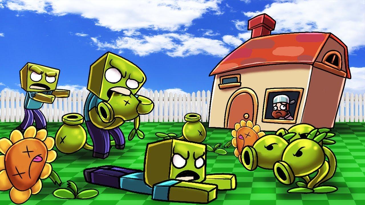 Minecraft | PLANTS VS ZOMBIES CHALLENGE! (ZOMBIE HORDE ATTACKS)