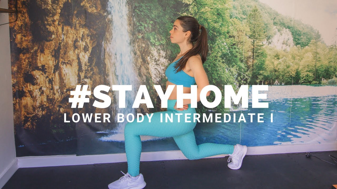 AT HOME LOWER BODY INTERMEDIATE WORKOUT I | #STAYHOME (No equipment leg and butt workout)
