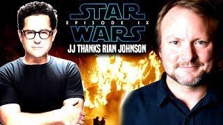 Star Wars! JJ Abrams Thanks Rian Johnson For THIS Big Reason (Star Wars News)