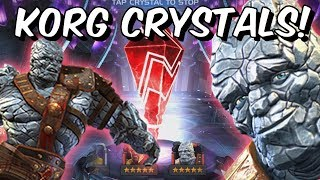 4 and 5 Star Korg Crystal Opening!! - Marvel Contest Of Champions