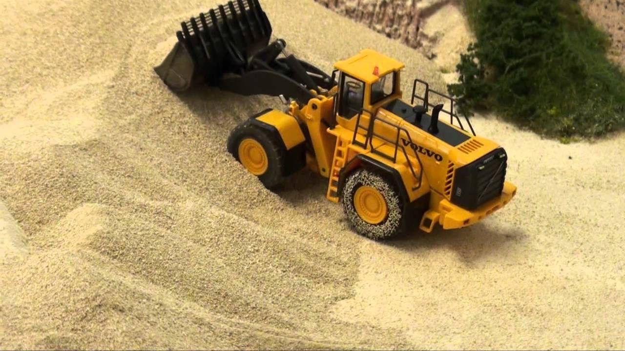 wiking volvo l350f radlader auf rc in 1 87 youtube. Black Bedroom Furniture Sets. Home Design Ideas