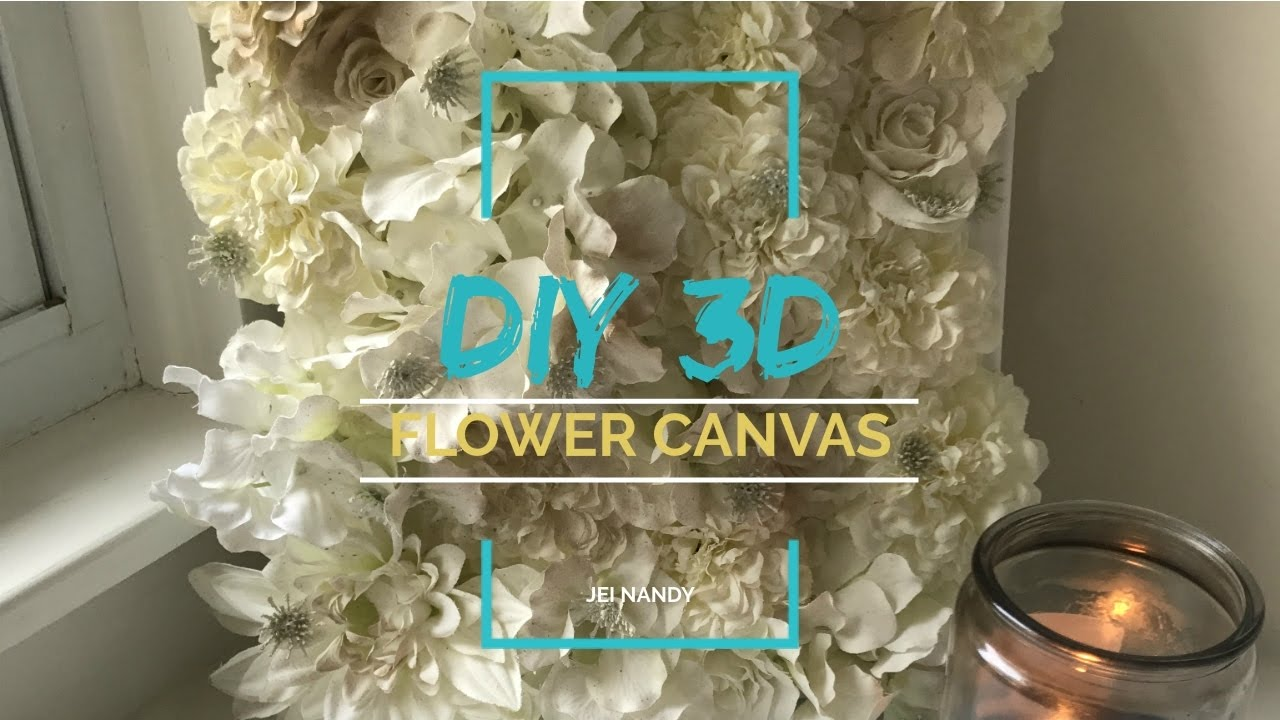 Wall Art Diy 3d Flower Canvas Youtube