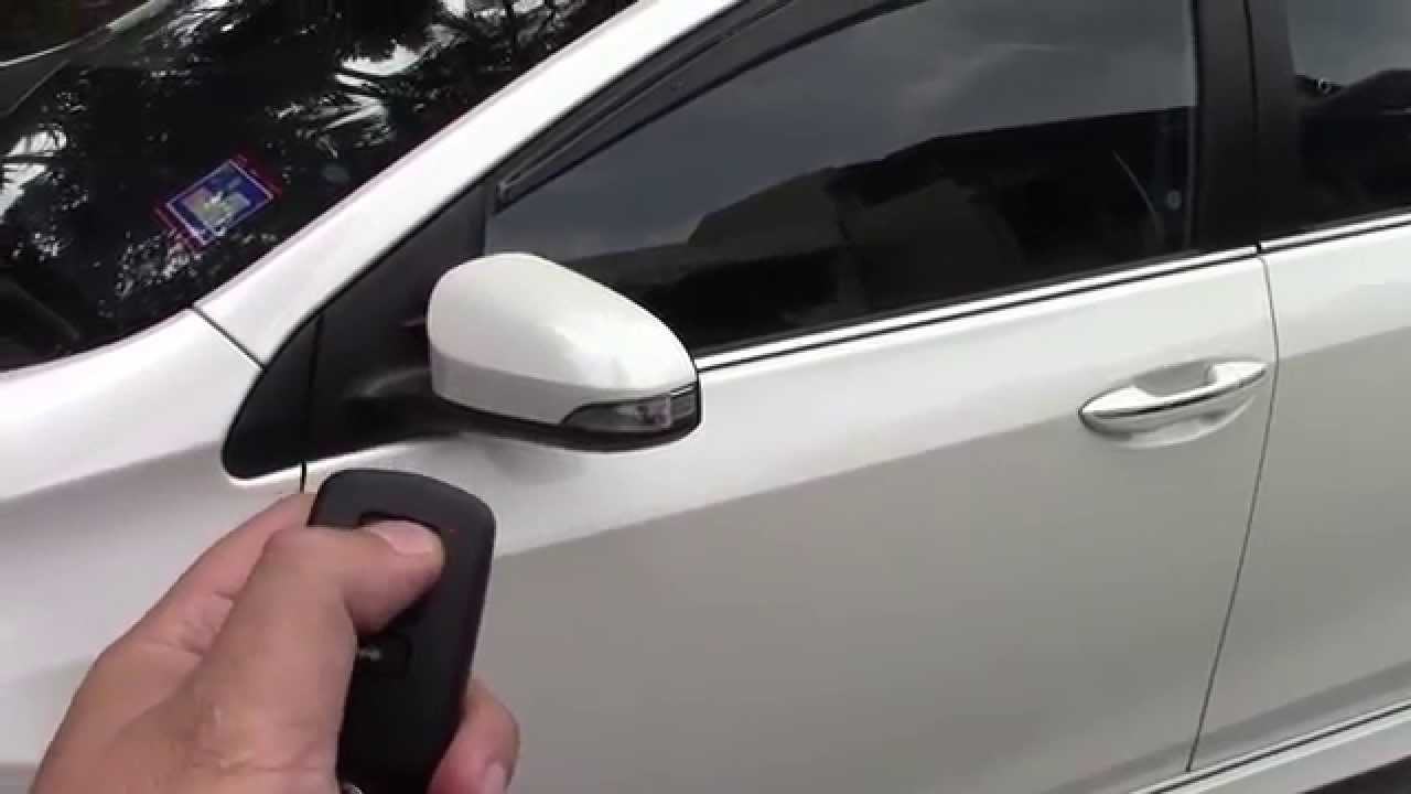 Toyota Altis Corolla 14 Installed Side Mirror Auto Fold