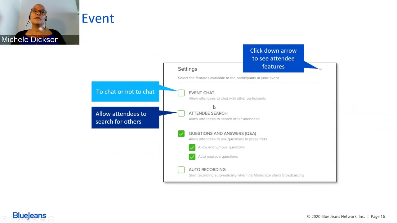 Event Streaming Training: Ins & Outs of BlueJeans Events