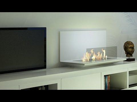 Loft Bio Cheminée Ethanol Télécommandée Smart Design Afire - Youtube