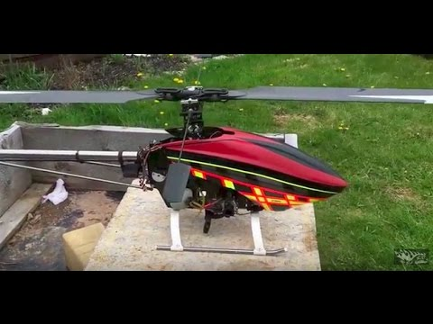 RB's RC's: Century Radikal G30 V2 Gas Powered RC Helicopter first start up terrifying