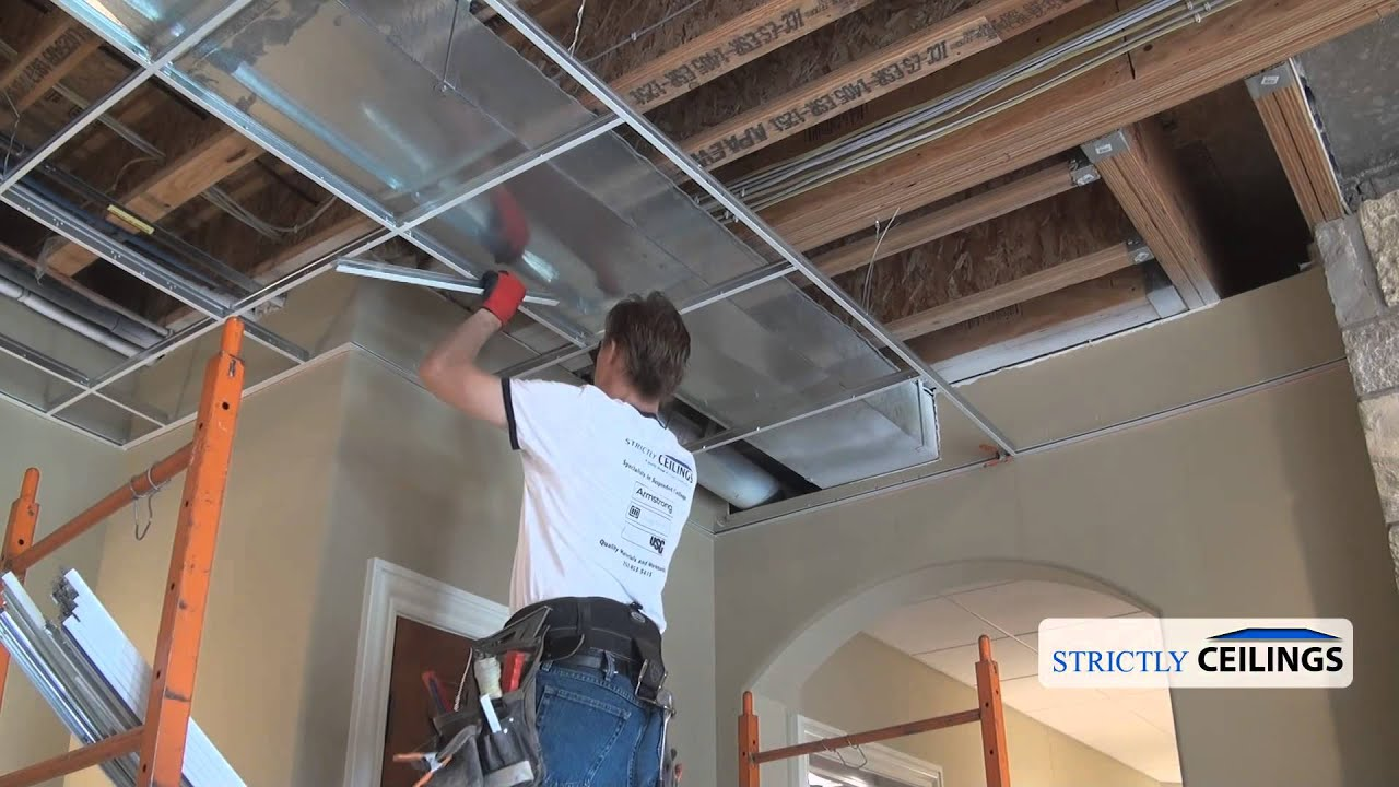Suspended Ceiling Grid Types - YouTube
