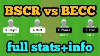 BSCR vs BECC Dream11  BSCR vs BECC   BSCR vs BECC Dream11 Team 