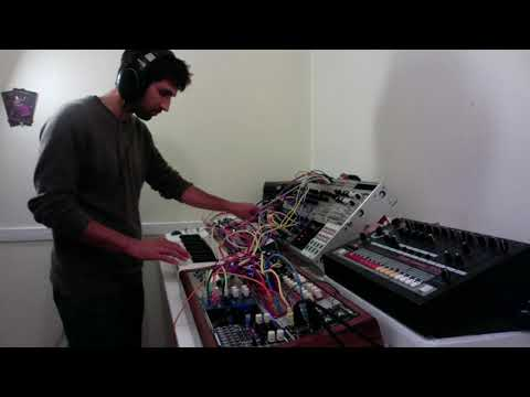 Eurorack synthesizer performance with G-Storm Electro Sh-101