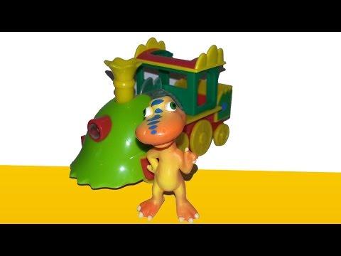 Мультфильм Поезд динозавров для малышей - геометрические фигуры