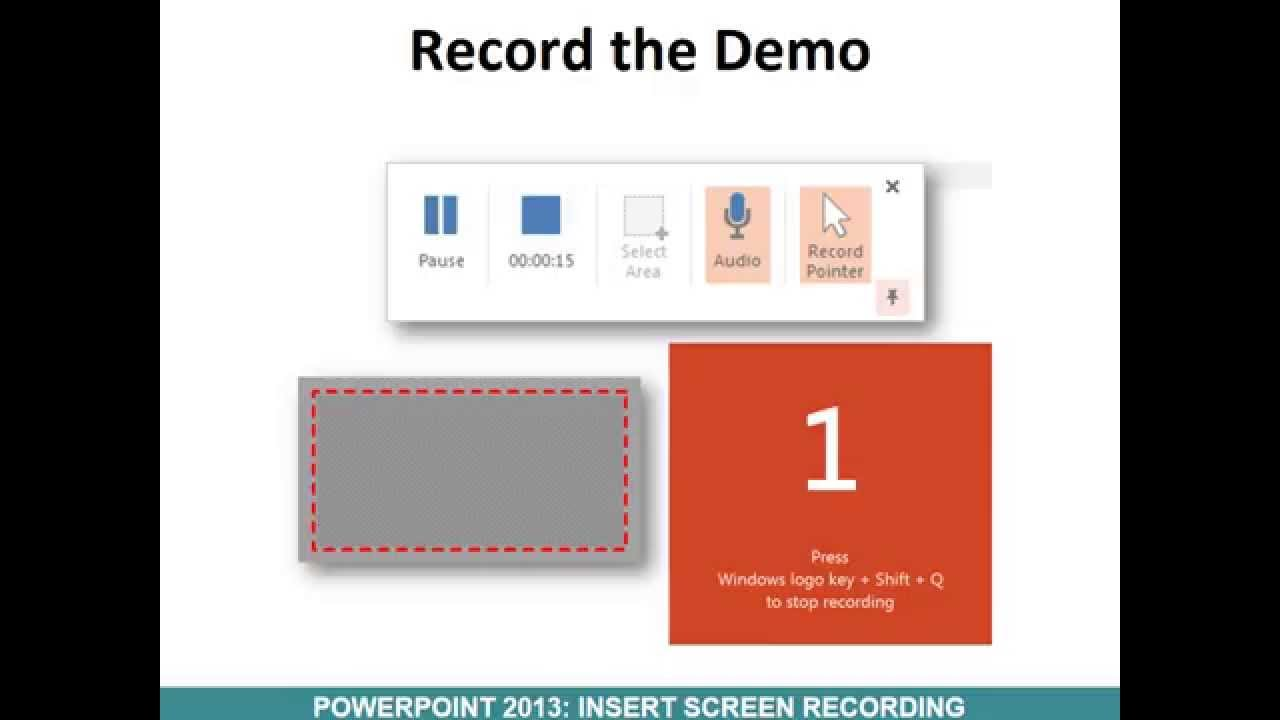 powerpoint how to add video recording