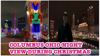 Columbus Ohio Downtown looks during Christmas