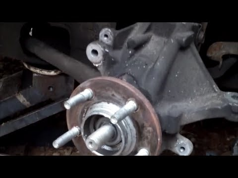 1999 Ford Taurus Left Steering Knuckle and Wheel Bearing Removal