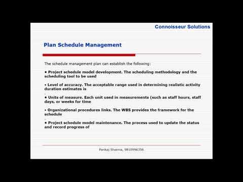 Schedule Management Plan - Order of Magnitude Vs Definitive - schedule management plan