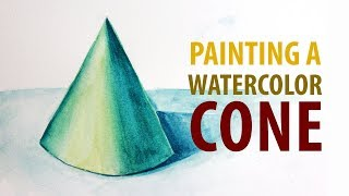 PAINTING | How to Paint a Cone in Watercolor Timelapse