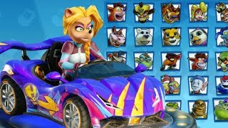 Crash Team Racing Nitro Fueled - All Characters in Champion Kart + Gameplay