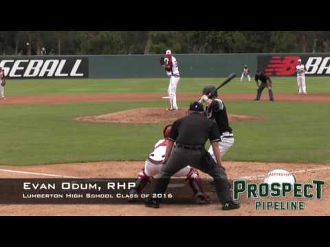 Evan Odum Prospect Video, RHP, Lumberton High School Class Of 2016